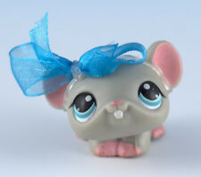 Littlest Pet Shop Mouse #80/309 Gray With Blue Eyes Pink Feet