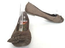 Rocket Dog Brown Bow Toe Box Ballerina Ballet Flats Size US 7.5 M