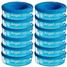 12 x Angelcare Nappy Disposal System Refill Cassettes Wrappers Bags Sacks Pack