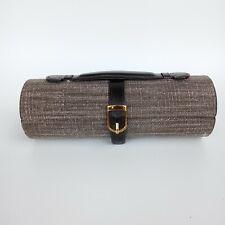 Tuscan Designs Jewelry Case Hard Shell Round Sparkling Brown Travel Organizer