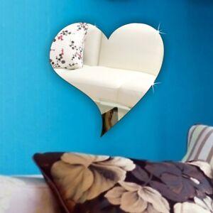 Wall Heart Acrylic Mirror *PERSONALISED4 FREE* NO Drilling Wedding Birthday Gift