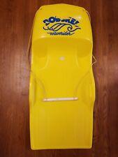 Rare Vintage Bobsked Waverider Yellow Water Snow Sled Kneeboard Toboggan Bob Ski