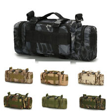 Tactical Molle Waist Bag Bum Pack 3P Military Army Shoulder Outdoor Bagpack