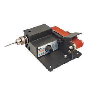 Abrasive Belt Sander 0-10000RPM Speed Adjustable Fixed Angle Polishing Machine