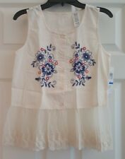 NWT GIRLS GUESS EMBROIDERED TOP $32 SIZE 16