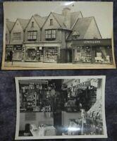 2 Vintage BW Photographs SHOPS - LEWELLENS DEPARTMENT STORE - RETAIL - GENERAL
