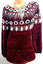 $69 Style&Co. red black plus size space dyed knit pullover boat neck sweater 2X