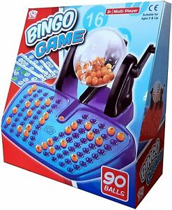 Family Large Bingo Lotto Game Revolving Machine With 90 Numbers & Reusable Cards