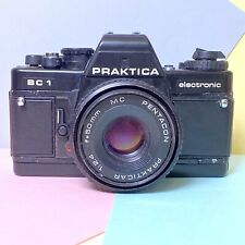 Praktica BC1 Electronic 35mm SLR Film Camera W/ 50mm F/:2.4 Pancake Lens Lomo