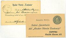 SS78 1902 ARGENTINA HOTEL ADVERT Stationery Ruderverein Postcard {samwells}