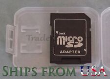 25 PCS Generic MicroSD to SD Card Readers with Case 1GB 2GB 4GB 8GB 16GB 32GB