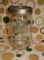 Wide Mouth Ball Mason Glass Canning Jar Embossed Fruit Basket 32 oz Vintage # 67