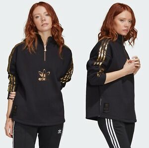 Adidas originals Bling black gold 2.0 quarter-zip sweatshirt