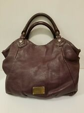 MARC by Marc Jacobs Plum-Colored Large Washed Up Lauren Leather Satchel Bag