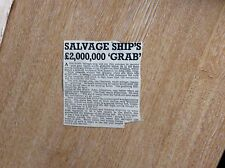 q2-1 ephemera 1950s article salvage ship niagara claymore johnstone