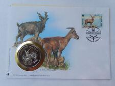 Numisbrief 30 Jahre WWF 1995 Uzbekistan Schraubenziege