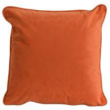 45x45cm Luxurious Velvet Filled Square Cushion Bright Orange