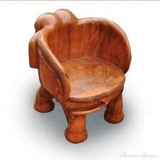 Thailand Hand Carved Wood Chair Zen Seat Zazen Chair Elephant Shapes Stool #1109