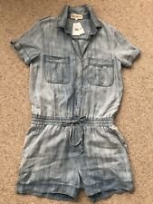 Side Stitch Los Angeles. Washed Light Artic Romper. Short Sleeve. Pockets. NWT