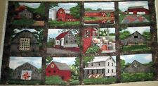 "1 Beautiful ""Quilt Trail"" Cotton Quilting Home Decor Sewing Fabric Panel"