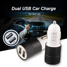 Black Universal USB Fast Charging Dual 2 Port Car Charger Adapter For Cell Phone