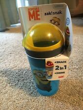 Zak! Designs Zak! Snak Snack & Drink Container Featuring The Minions, 4 oz. Snac
