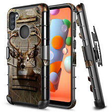 For Samsung Galaxy A11 Case Holster Belt Clip Kickstand Armor Phone Cover