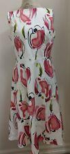 David Meister Floral Cotton/Spandex Sleeveless Dress Size 12