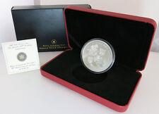 2007 $50 5oz Silver Coin Canada Queens 60th Wedding Anniversary Original COA Box