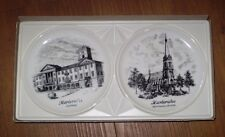 TWO FOUR INCH PLATES MADE IN KAISER GERMANY WITH BOX