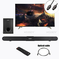 XGODY 40W TV Soundbar Home Theater Bluetooth Coaxial Optical Wired Subwoofer RCA