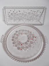 Walther Glas Tortenplatte/Königskuchenplatte 2 Stück Bubbles Glaskugel-Rand