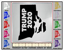 DecalDoggy - Rhode Island For Donald Trump 2020 Vinyl Decal Car / Wall