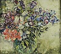 Signiert Manfred P Weingartner datiert 1972 - Blumenstillleben in einer Vase