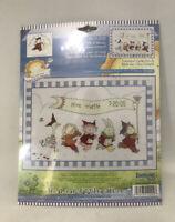 "Janlynn Bunny Rabbit & Animals Parade Baby Announcement X-Stitch Kit NIP 13 x 9"""