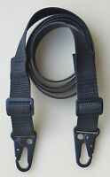 "RIFLE SHOTGUN SLING 1"" x 45"" (Cut 55) 750 lb  Polypro Web TWO HK Style QD Clips"