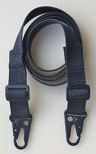 """RIFLE SHOTGUN SLING 1"""" x 45"""" (Cut 55) 750 lb  Polypro Web TWO HK Style QD Clips"""