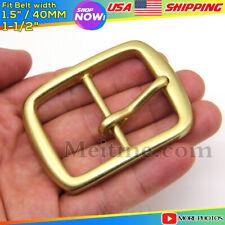 "Meitme Solid Brass Belt Pin Buckle Square Mens Belt Buckles/Buckle fitfor 1 1/2"""