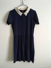 Asos Tea Dress Lolita Cute Vintage 40s Retro Peter Pan Collar 8