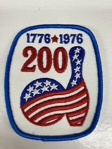 Embroidered Sew On Patch BOWLING Bicentennial 1776-1976/200 Patriotic Pin & Ball