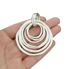 2 x Tibetan Silver Large 7 Rings Circles Pendants For Necklace Jewellery Making
