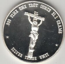 Jesus on the Cross and Pope John Paul II coin one troy ounce silver round