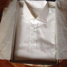 Dobell Uomo Camicia Elegante vestibilit/à Regolare Misto Cotone A Pieghe Nero