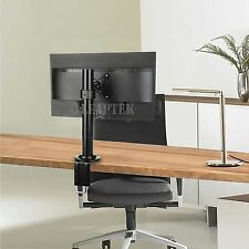 SINGLE LCD LED VESA MONITOR DESK STAND MOUNT CLAMP ARM ADJUSTABLE SCREENS 13-27""