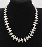 Süßwasser-perle Halskette, Weiß Barock Perle Halskette 15-20 inches
