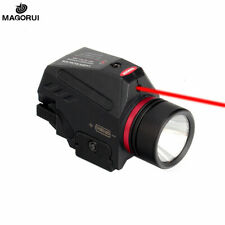 New listing Magorui Led Flashlight Red Laser Combo Sight for 20mm Rail Glock Hunting Pistoll