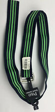 Polo Ralph Lauren Mens Nylon Belt Small Navy Blue Green Striped NEW