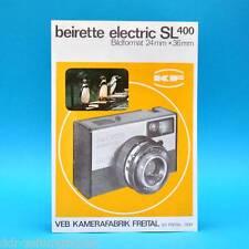 beirette electric SL 400 Kamerafabrik Freital l DDR um 1965 | Prospekt Werbung