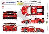 """[FFSMC Productions] Decals 1/18 Ferrari F-430 LMGT2 """"Team RISI"""" (LM 2008)"""