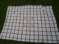 Ancienne Petite Nappe en coton pour table1960 Motifs Géometriques Carreaux